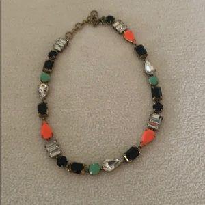 I Crew jeweled necklace